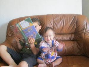 """""""I love when Eliyahu reads to me!"""""""